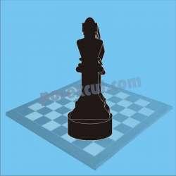 rey de ajedrez negro porexpan poliespan