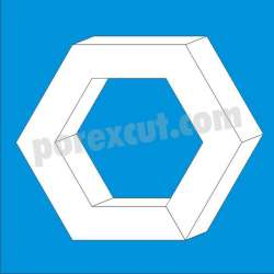 Hexagono hueco de porexpan corcho blanco poliespan poliestireno