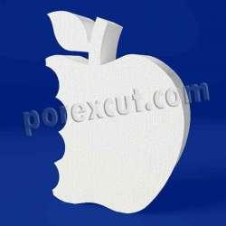 Manzana mordida de porexpan poliespan corcho blanco
