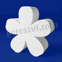 Flor de porexpan poliespan corcho blanco