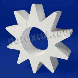 Sol estrella de porexpan poliespan corcho blanco