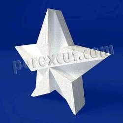Estrella de porexpan poliespan corcho blanco