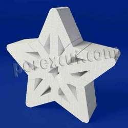Estrella hueca de porexpan poliespan corcho blanco