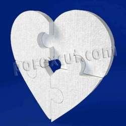 Corazon puzzle de porexpan poliespan corcho blanco