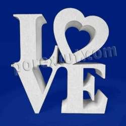LOVE de porexpan poliespan corcho blanco