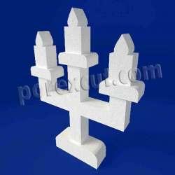 candelabro de porexpan poliespan corcho blanco