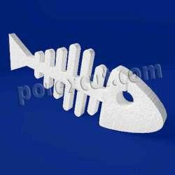 Espina pez pescado de porexpan poliespan corcho blanco