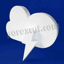 Nube rayo de porexpan poliespan corcho blanco
