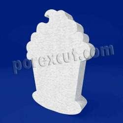 silueta cupcake porexpan poliespan corcho blanco poliestireno expandido