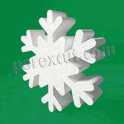 copo de nieve de poliespan porexpan corcho blanco
