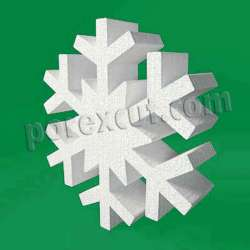 copo de nieve L2 porexpan poliestireno expandido corcho blanco porexcut snowflake