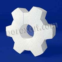 Engranaje de porexpan poliespan corcho blanco poliestireno expandido