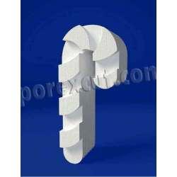 Bastón de porexpan poliespan corcho blanco poliestireno expandido