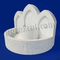 Fuente de porexpan poliespan corcho blanco poliestireno expandido