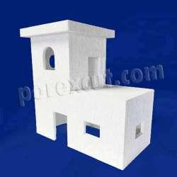 Casa escaleras de porexpan poliespan corcho blanco poliestireno expandido