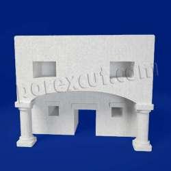 Casa grande de porexpan poliespan corcho blanco poliestireno expandido