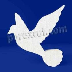Paloma de porexpan poliespan corcho blanco poliestireno expandido