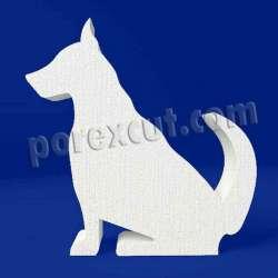 Perro de porexpan poliespan corcho blanco poliestireno expandido