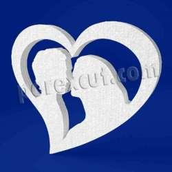 Pareja corazón de porexpan poliespan corcho blanco poliestireno expandido