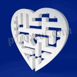 Corazón laberinto de porexpan poliespan corcho blanco poliestireno expandido