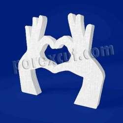 Corazón manos de porexpan poliespan corcho blanco poliestireno expandido