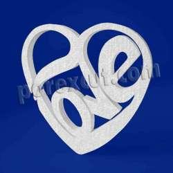 Corazón love de porexpan poliespan corcho blanco poliestireno expandido