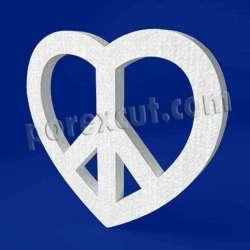 Corazón paz de porexpan poliespan corcho blanco poliestireno expandido