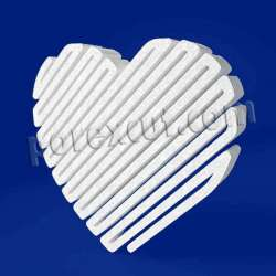 Corazón zig zag de porexpan poliespan corcho blanco poliestireno expandido