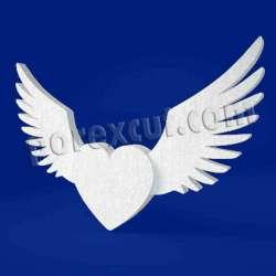 Corazón alado de porexpan poliespan corcho blanco poliestireno expandido