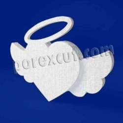 Corazón alado alas de porexpan poliespan corcho blanco poliestireno expandido