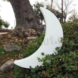 Luna gitante de corcho blanco de alta densidad Medidas, 125 cms de alto y 25 cms de grosors