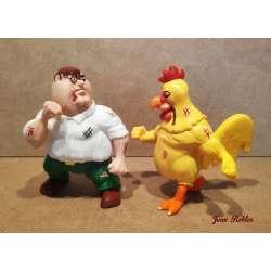 Peter Griffin y el pollo Ernie impreso en 3D