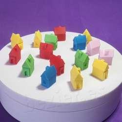 Casas impresas en 3d para jugar a la oca, parchis monopoly