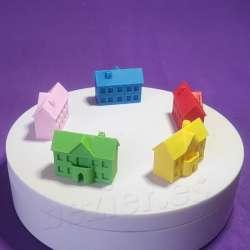 Hoteles impresos en 3d para jugar a la oca, parchis monopoly
