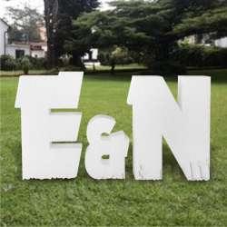Letras de corcho grandes para bodas, iniciales para eventos, celebraciones