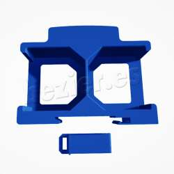 Shelly2.5 soporte shelly doble carril clip impresion 3d