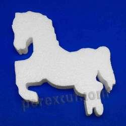 caballo tiovivo de porexpan poliespan corcho blanco