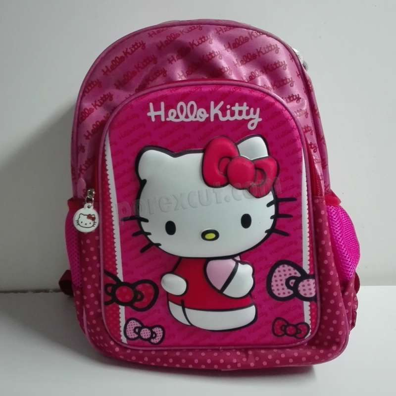 super servicio diseño distintivo busca lo último Mochila Hello Kitty con relieve