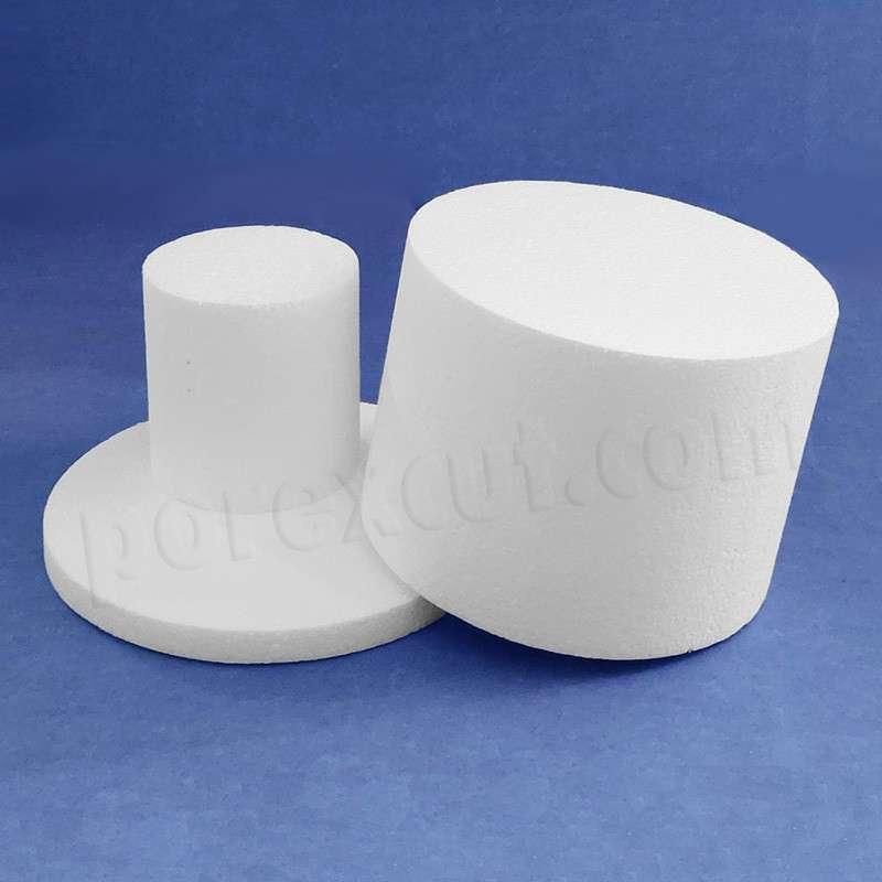 Piezas redondas de poliestireno expandido, porexpan, corcho blanco