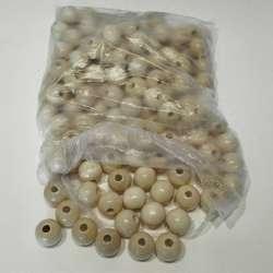 140 bolas de madera color...