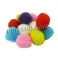 12 Pompones Colores