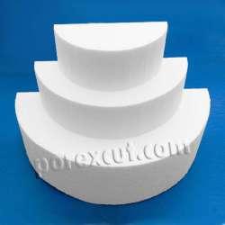 Semicirculo de porexpan semi circulo corho blanco poliespan